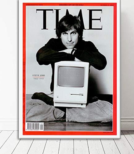 NVRENHUA Kunstposter Steve Jobs tolles Poster und Wandbild Leinwand Gemälde Raumdekoration 42x60cm Rahmenlos