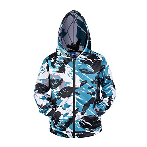 FENICAL Abrigo con capucha con cremallera masculina Abrigo con capucha de manga...