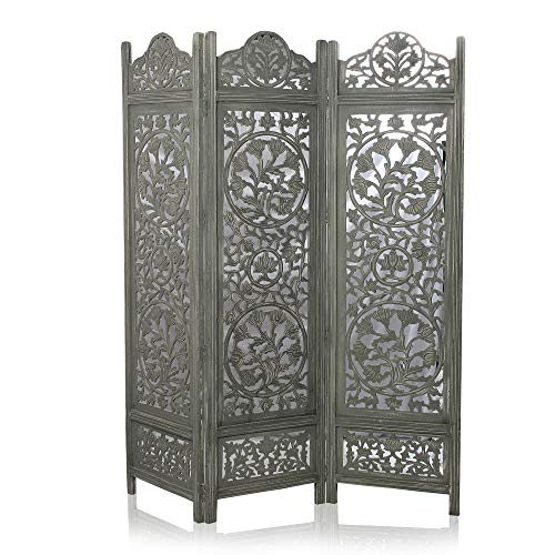 Cheapest Price! India Overseas Trading Corporation 6 Ft. Large Room Divider Decorative Wooden Screen...