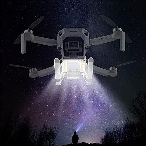 Prodrocam Carrello di Atterraggio con lampada LED per DJI Mini 2/Mavic Mini Landing Gear Carrello di Atterraggio Pieghevole Carrello di Atterraggio Integrato