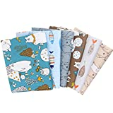 HEEPDD Cotton Twill Fabric, 6 Stück Mixed Pattern Farbe