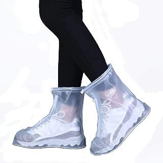 FixWout Waterproof Bike Motorcycle Shoe Covers Reusable Rain Snow Shoes Overshoes Gear Zipped Boot Men/Women Rain Shoes Covers