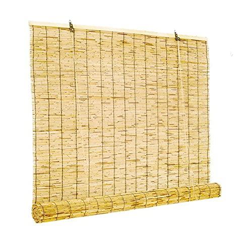 XIAOLIN Sombrilla Transpirable Persianas Rodillo Bambú,Decoración Pared Temition Cortina Bambú,Privacidad Natural Terraza/Puerta/Casa Rural (Color : Clear, Size : 125x145cm/49.2' x57.1)