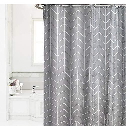 XGXQBS geometrische patroon douchegordijn, badkamer anti-schimmel extra brede lange douchegordijnen inclusief haken