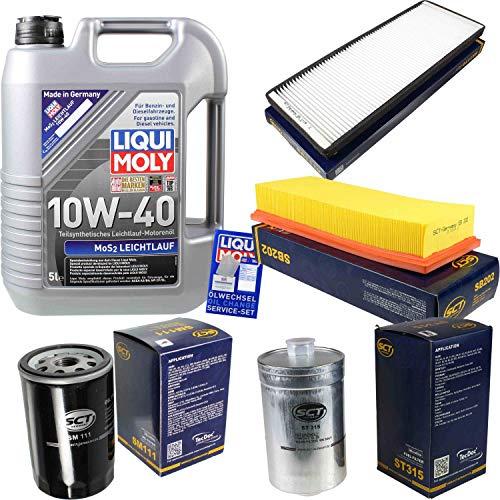 QR-Parts Set 85490903 SB 202 ST 315 1092 SA 1119 SM 111 5L Liqui Moly MoS2 10W-40 + paquete de filtros SCT-Germany 11250705