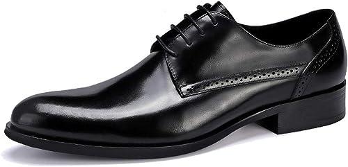 Mens Smart Casual Formal geschnürt Spitze Lederschuhe Hochzeit Hochzeit Hochzeit Prom Office Klassische Hochzeit Schuhe handgefertigte Oxford Schuhe  Online-Shop