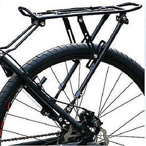 ReedG Portaequipajes para Bicicletas Súper Fuerte Disco de montaña de la Bici del Freno de Disco Bastidores Superior del Estante de Aluminio del Estante (Color : Negro, tamaño : Un tamaño)