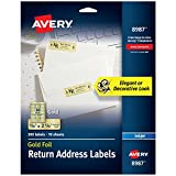 Avery Gold Address Labels for Inkjet Printers, 3/4' x 2-1/4', 300 Labels (8987)