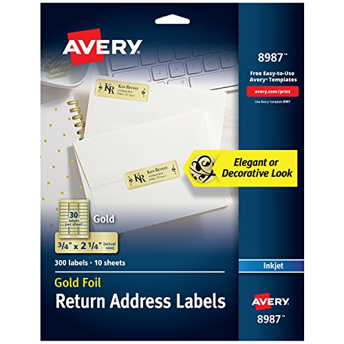 Top colored address labels for 2020