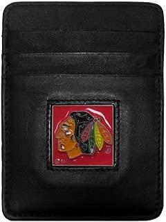 Siskiyou NHL Genuine Leather Money Clip/Cardholder Wallet