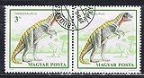 SH320 1990 Block of 2 X 3Ft Prehistoric Dinosaurs Tarbosaurus Hungary Postage Stamps