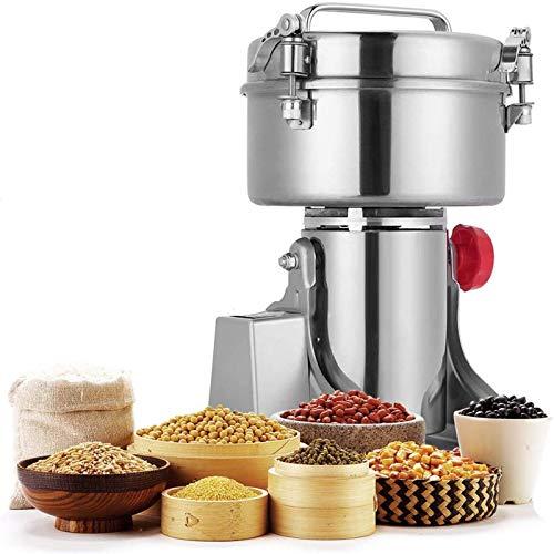 S SMAUTOP 1500g Elektrische Getreidemühle, Mühle Pulver LCD Digital Edelstahl Ultra 25000 U/min Mühle Maschine Pulverisierer für Küche Kräuter Gewürz Pfeffer Kaffee Mais