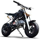 90GJ Petite Moto de Montagne Tout-Terrain pour Petits Enfants Essence Essence Adulte 49cc Moto de Moto de Cross Noir