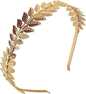Rzymski liść korona, XCOZU bogini diadem złoty liść opaska korona liść, dziewczęta grecka złota opaska na głowę ślubna opa...