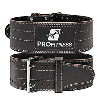 Weight Lifting Belt back support for Men and Woman Leather Weightlifting Belt Comes With  Black/White Medium