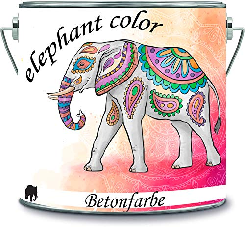 elephant color 2-K - Pintura para hormigón para exteriores, color gris ágata RAL 7038, 10 kg