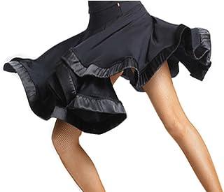فستان الرقص اللاتيني للنساء من ريسام للبالغين، تنورة رقص لاتيني لممارسة الرقص تنورة الرقص