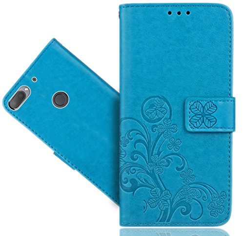 HTC Desire 12 Plus / Desire 12+ Handy Tasche, FoneExpert® Wallet Hülle Cover Flower Hüllen Etui Hülle Ledertasche Lederhülle Schutzhülle Für HTC Desire 12 Plus / Desire 12+