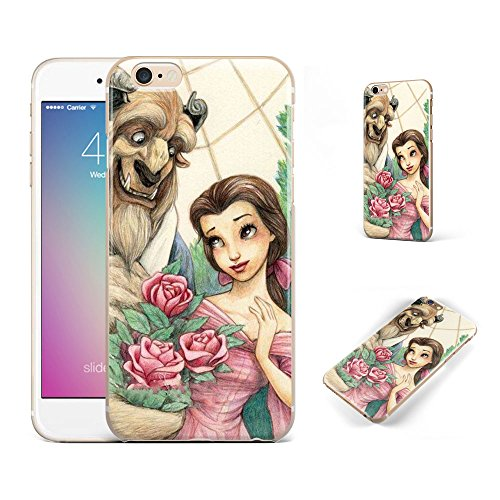 GSPSTORE iPhone 7 Plus Case,Beauty and The Beast Cartoon Soft Transparent TPU Protector iPhone Case Cover for iPhone 7 Plus (5.5Inch)