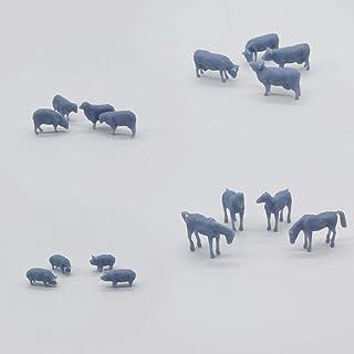 Outland modeller modell järnväg häst får ko gris gård djur set HO mätare 1:87