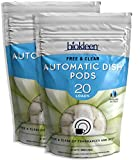 Biokleen Automatic Natural Dish Pods - 40 Pods - Dishwasher Detergent, Concentrated, Phosphate & Chlorine Free, Eco-Friendly, Free & Clear, 40 Pods