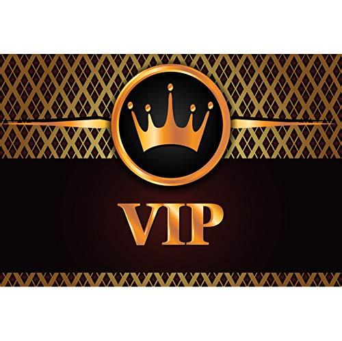 Yeele 3x2m Vinyl Fotografie achtergrond VIP-achtergrond Gouden kroon Patroon Behang Foto achtergrond voor Party Decor Portret Fotoshoot Photocall Video Studio Rekwisieten
