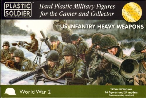 The Plastic Soldier Company - US Heavy Weapons set - 76 figures and 24 models - 2015007