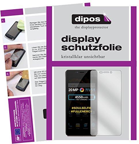 dipos I 6X Schutzfolie klar kompatibel mit Allview X4 Soul Xtreme Folie Bildschirmschutzfolie