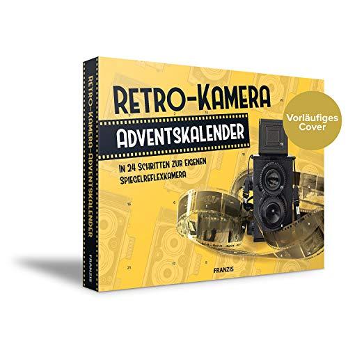 FRANZIS Retro-Kamera Adventskalender| In 24 Schritten zur Spiegelreflexkamera | Zum Zusammenstecken und Verschrauben | Ab 14 Jahren
