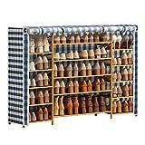 kaijunshop estantería para Zapatos Zapatero Organizador de Almacenamiento de Zapatos Torre del gabinete con Cubierta de Tela Oxford Organizador de Zapatos (Color : Multi-Colored)