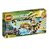 """Includes 3 minifigures with weapons: Lloyd (golden ninja), scout and warrior. Features dragon sphere attack, poseable arms and legs, and extendable wings. Measures over 5"""" (15cm) high, 13"""" (35cm) long and 13"""" (35cm) wide Catapult measures over 1"""" (5c..."""
