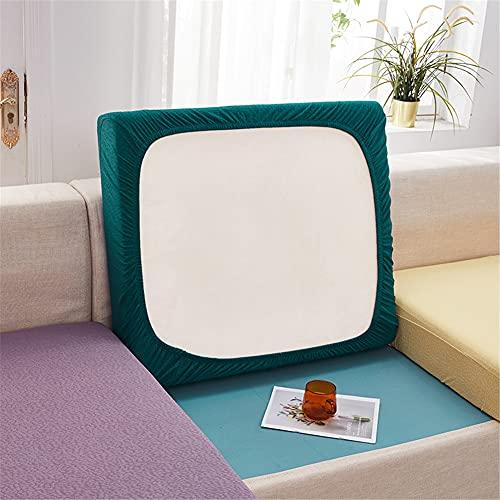 Fundas de cojín elásticas para sofá, impermeables, fundas de cojín de sofá, fundas de repuesto para cojines individuales (verde oscuro, rectángulo-5XL)