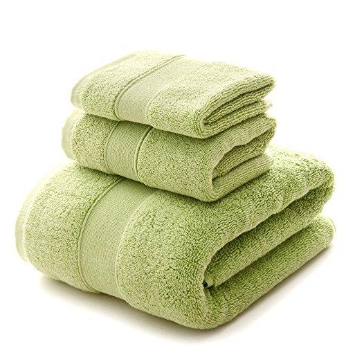 YIH Juego de toallas de baño Clearance 900 GSM Premium 6 piezas Sábanas de baño verde, lujoso hotel spa 100% algodón, 2 toallas de baño, 2 toallas de mano y 2 paños