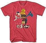 Disney Mickey Mouse Fill Me Graphic Tee Classic Vintage Disneyland World - Camiseta para hombre adulto - Rojo - X-Large