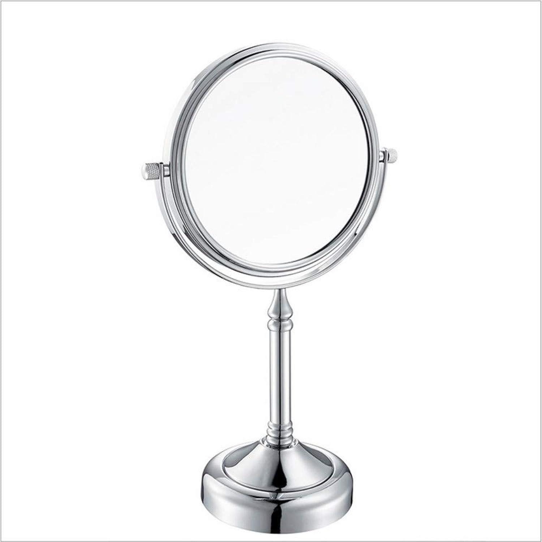 Desktop Double-Sided Metal Vanity Mirror, Bathroom Magnifying Mirror