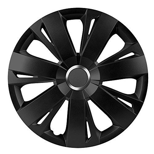 CM DESIGN 16 Zoll Radzierblenden Energy RC Black (Schwarz mit Chromring). Radkappen passend für Fast alle VW Volkswagen wie z.B. Golf 7!