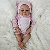 WBDZ Realistas muñecas Reborn Baby My Cute Little Totoro Kids Playmate 18 Pulgadas Realistas muñecas recién Nacidas sonrientes parecen Reales