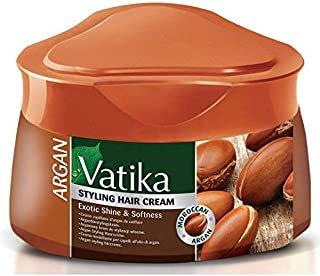 Vatika Argan Exotic Shine & Softness Styling Hair Cream (210ml)