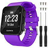 QGHXO Band for Garmin Forerunner 35, Soft Silicone Replacement Watch Band Strap for Garmin Forerunner 35/Forerunner 30 Smart Watch, Fit 5.11 inches-9.05 inches (130mm-230mm) Wrist