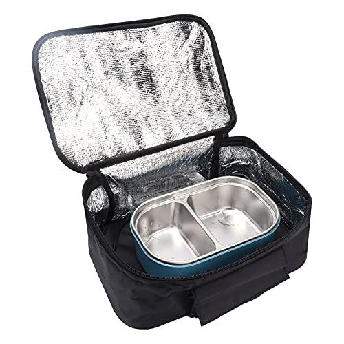 Mini microondas para coche eléctrico, horno eléctrico de 12 V, caja de picnic de calentamiento rápido para viajes, acampar, cocinar alimentos, negro