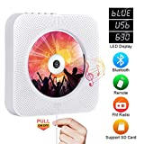 Portable CD Player with Bluetooth, Qoosea Wall Mountable CD Players Music Player...