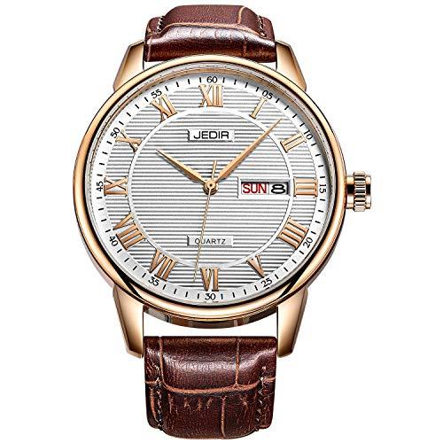JEDIR uomo orologio giorno e data Gent orologio mani in numeri romani in...