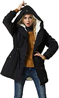 👏 Happylove 👏 Women's Winter Warm Coat Hoodie Parkas Overcoat Fleece Outwear with Drawstring Jacket
