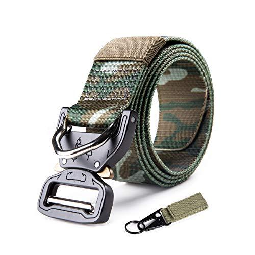 FREE SOLDIER Taktischer Gürtel Herren Schwerlast MOLLE Taillengürtel Schnelle Veröffentlichung Militär Gürtel für Männer Nylon Sicherheitsgurt(Armee grünes Tarn)
