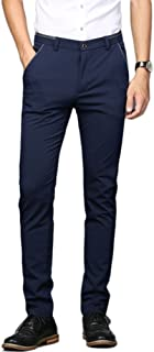 Men's Stretch Dress Pants Slim Fit Skinny Suit Pants