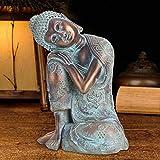 【𝐒𝐞𝐦𝐚𝐧𝐚 𝐒𝐚𝐧𝐭𝐚】 Decoración de estatuas de Buda, decoración de estatuas de Buda de Estilo del sudeste asiático Decoración al Aire Libre para decoración de Arte de jardín, Regalos para Amigos