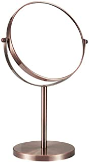 """Desktop Makeup Mirror HD Dressing Mirror Beauty Mirror Double Mirror 360° Rotation Single Mirror with Magnification Durable and No Rust (Color : A#-8"""")"""