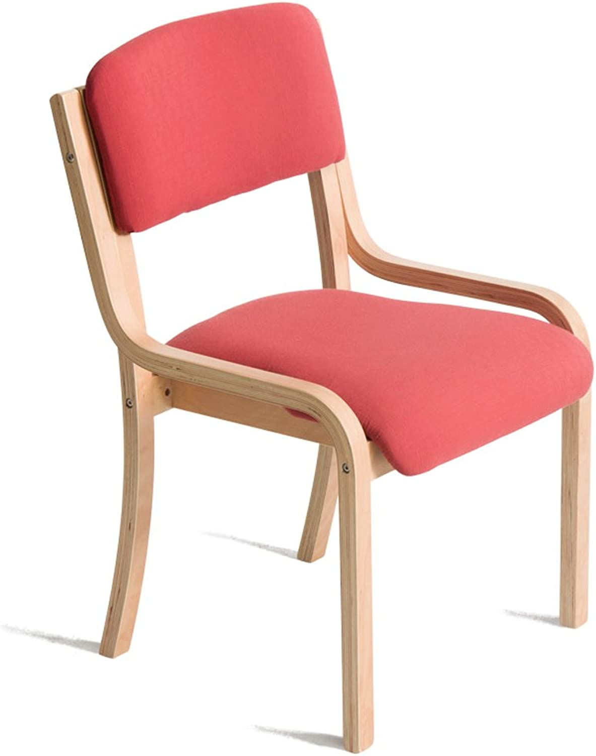 Chairs Dining Chairs Simple Chairs Leisure Chairs Solid Wood Fabric Dining Table Chairs Washable Sedentary Comfortable (color   Red)