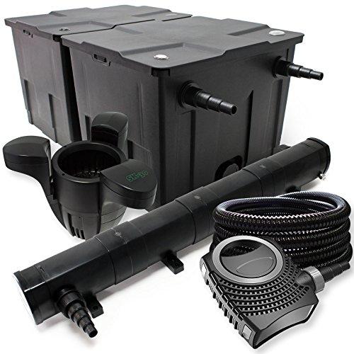 WilTec-Kit de filtrado con Bio-Filtro UV 72 60000l Esterilizador Bomba de Estanque...