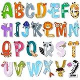 Avamie Animal Alphabet Letters Magnets for Kids, Jumbo Animal Magnetic Letters ABC Alphabet Letters Fridge Magnets, Large Animal Magnetic Letters Alphabet Refrigerator Magnets for Kids